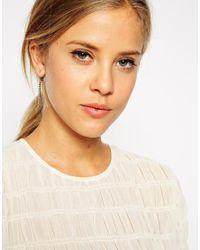 ASOS - Pink Crystal Tassel Swing Earrings - Lyst