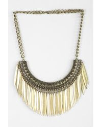 Urban Outfitters | Metallic Raining Petals Statement Necklace | Lyst