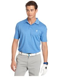 Izod | Blue Performance Stretch Heather Polo for Men | Lyst