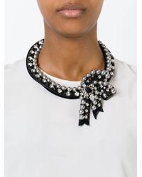 Shourouk - Black 'bow' Necklace - Lyst