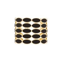 House of Harlow 1960 | Black Del Sol Leather Cuff | Lyst
