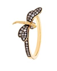 Annoushka | Yellow Love Diamonds Dragonfly Ring | Lyst