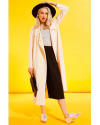 AKIRA - Natural Makin' Plans Beige Trench Coat - Lyst