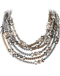 Dyrberg/Kern - Metallic Dyrberg/kern 6 Row Bead Necklace - Lyst