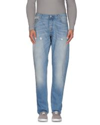 Care Label | Blue Denim Trousers for Men | Lyst