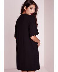 Missguided - Skeleton Print T-shirt Dress Black - Lyst