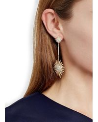 Bochic | Metallic Starburst Diamond 18kt Gold Earrings | Lyst