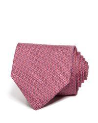 Ferragamo | Pink Signature Gancini Classic Tie for Men | Lyst