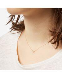 N/a   Metallic Tiny Diamond Necklace   Lyst