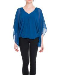 Max Studio | Blue Batwing Sleeve Top | Lyst