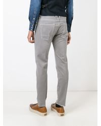 People - Gray Distressed Jeans for Men - Lyst
