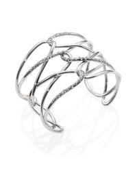 Alexis Bittar - Metallic Miss Havisham Liquid Crystal Barbed Cuff Bracelet/Silvertone - Lyst