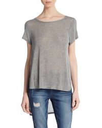 Project Social T | Gray Side Vent Hi-lo Top | Lyst