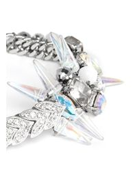 Assad Mounser - Metallic Spike Page Bracelet - Lyst