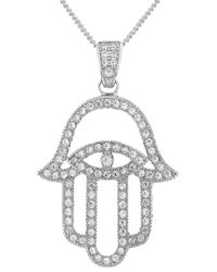V Jewellery | Metallic 'mythos Hamsa' Pendant Necklace | Lyst
