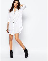 G-Star RAW   White Be Raw Shirt Dress   Lyst