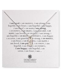Dogeared | Metallic I Am Loved Small Dog Tag Necklace, 18"