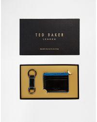 Ted Baker - Black Phasos Cardholder & Keychain Set for Men - Lyst