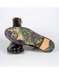 Paul Smith - Men'S Black Parma Leather 'Sullivan' Boots With Pot Plant Sole for Men - Lyst
