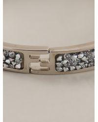 Fendi | Metallic Logo Rigid Bracelet | Lyst