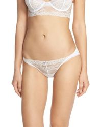 Skarlett Blue - White 'socialite' Hipster Bikini Briefs - Lyst