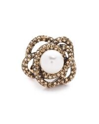 Oscar de la Renta | Metallic Imitation Pearl Ring - Cry Gold Shadow | Lyst