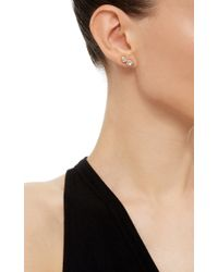 Ryan Storer | Pink Rose Gold Plated Swarovski Crystal Ear Cuff With Stud | Lyst