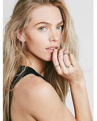 Free People - Blue Womens Stacking Ring Trio - Lyst