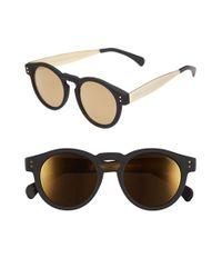 Komono | Black 'clement' 48mm Retro Sunglasses | Lyst