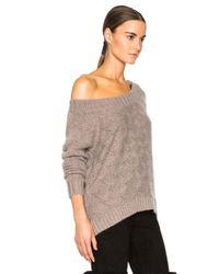 ThePerfext - Brown Flatbush Open Shoulder Sweater - Lyst