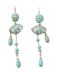 Vivienne Westwood - Blue Apollonia Earrings - Lyst