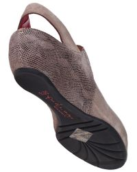 Pas De Rouge - Brown Silvia Wedge Taupe Suede - Lyst