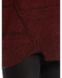 Label Lab - Purple Slouch Exposed Seam Detail Jumper - Lyst