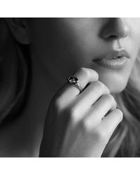 David Yurman | Metallic Noblesse Ring With Diamonds With Gold | Lyst