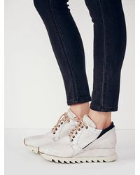 Free People - Gray Stanley Woven Trainer - Lyst