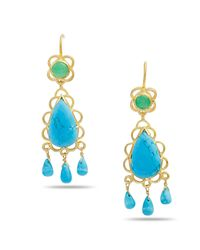 Emma Chapman Jewels | Blue Sibilla Turquoise Chandelier Earrings | Lyst