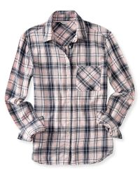 Aéropostale | Pink Long Sleeve Acid Wash Plaid Woven Shirt | Lyst