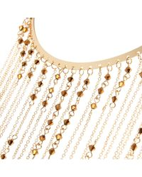River Island | Metallic Gold Tone Long Draped Chain Necklace | Lyst
