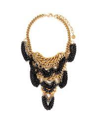 Ela Stone - Metallic Daisy Multi-layered Chain Plastron Necklace - Lyst
