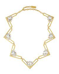 Auden - Metallic Harlow Crystal Collar Necklace - Lyst