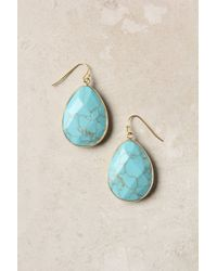 Anthropologie | Blue Gold Rung Earrings | Lyst