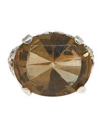 Stephen Dweck - Brown Silver Oak Lemon Citrine Ring - Lyst