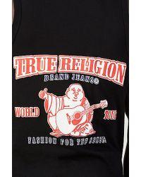True Religion | Black Logo Puff Mens Tank for Men | Lyst
