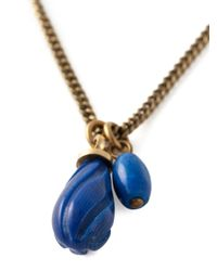 Isabel Marant | Blue Pendant Necklace | Lyst