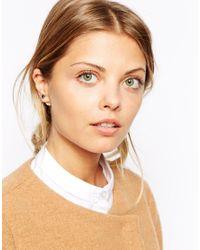 ASOS - Black Double Stone Earrings - Lyst