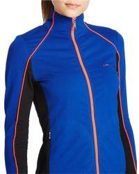 Lauren by Ralph Lauren - Blue Stretch Track Jacket - Lyst