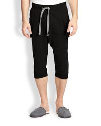 2xist - Black Cargo Pocket Capri Pants for Men - Lyst
