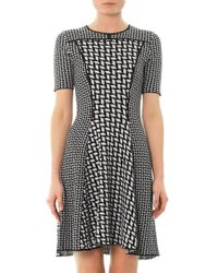 KENZO - White Graphic Intarsia Knit Dress - Lyst