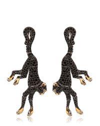 Roberto Cavalli - Black Monkey Earrings With Swarovski Crystals - Lyst