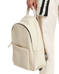 Brunello Cucinelli - Natural Pebbled Leather Backpack - Lyst